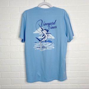Vineyard Vines Sail Fish T-Shirt Small Men's Tee